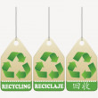 Recycling tags — Stock Vector