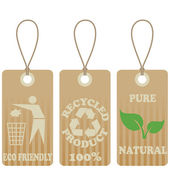 Eco friendly tags — Stock Vector