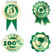 Stock Vector: Green stickers