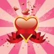 Royalty-Free Stock Obraz wektorowy: Hearts background