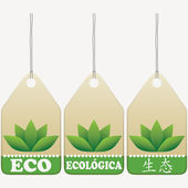 Eco tags signs — Stock Vector