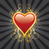 Abstrakt hjärta — Stockvektor