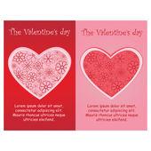The Valentine days — Stock Vector