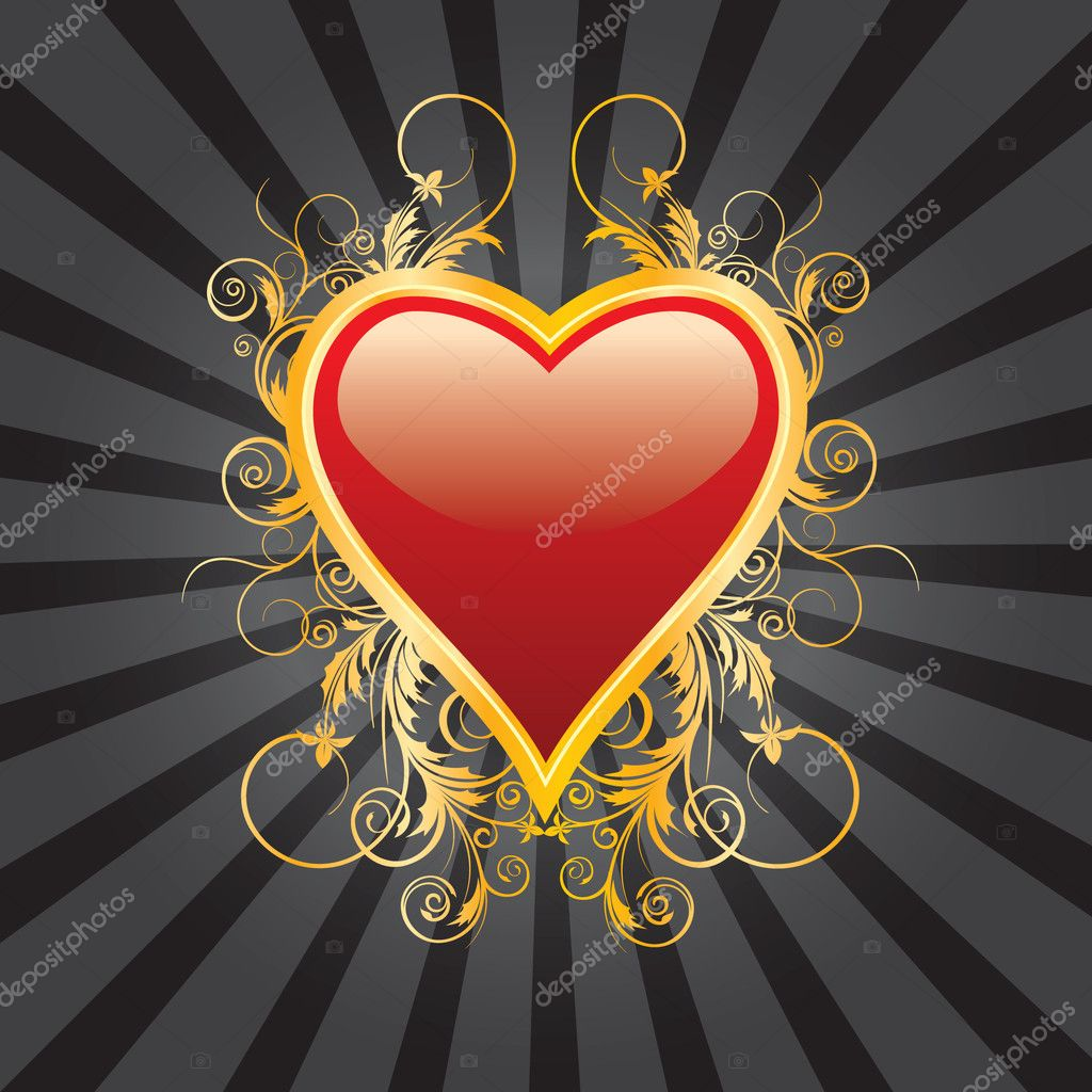 Abstract heart valentine background  Stock Vector #4742427