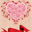 Royalty-Free Stock Immagine Vettoriale: Swirl heart with ribbon
