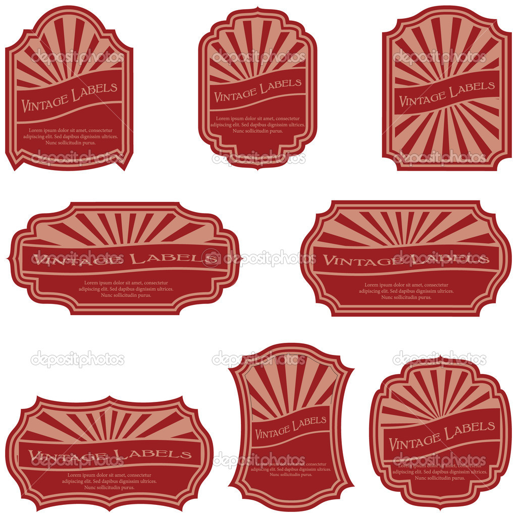 Vintage labels isolated on white background — Stock Vector #4930808