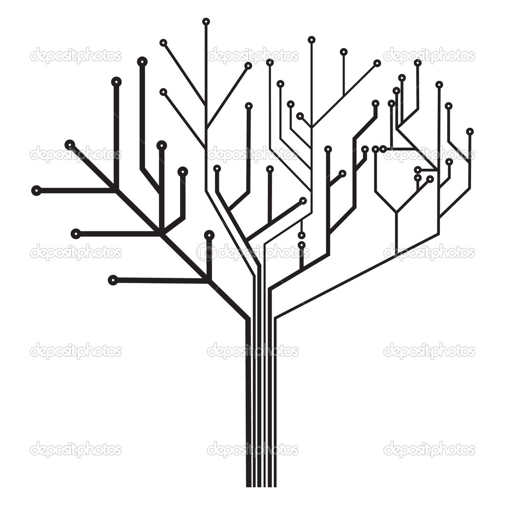 circuit tree  u2014 stock vector  u00a9 darkves  4930811