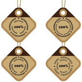 Satisfaction tags — Stock Vector