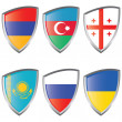 Royalty-Free Stock Vector Image: East 1 Europe Shield Flag