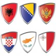 Royalty-Free Stock Vector Image: South 1 Europe Shield flag