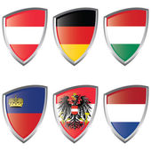 Central 2 Europe Shield flag — Vettoriale Stock