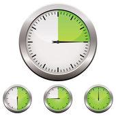 Zegar analogowy — Wektor stockowy