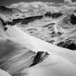 Alps - black and white - Stock Photo