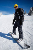 Snowboard beginner — Stock Photo