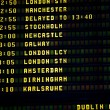 Dublin timetable — Stock Photo