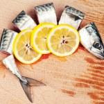 Mackerel and lemon — Stock Photo