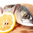 Mackerel and lemon — Stock Photo