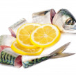 Stock Photo: Mackerel and lemon