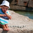 Boy on the beach — Stock fotografie