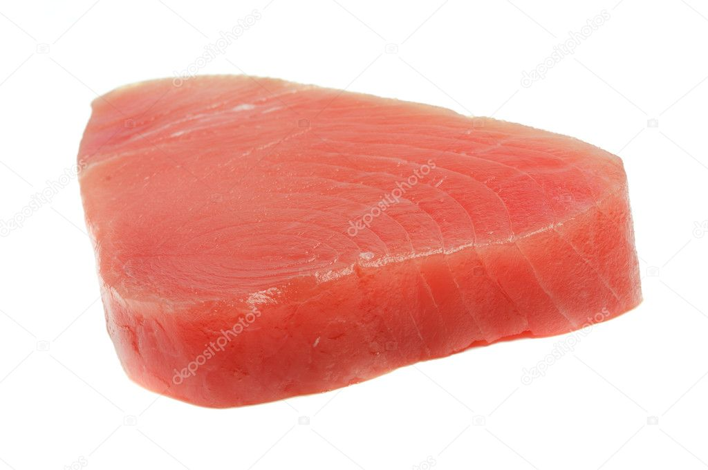 Filet of tuna isolated on white.  Stock Photo #4274484