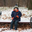 winter jongen — Stockfoto