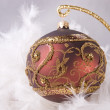 Royalty-Free Stock Photo: Christmas decoration with ornamented bauble