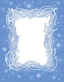 Winter christmas frame — Stock Vector