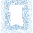 Stock Vector: Winter christmas frame