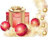 Christmas greeting card — Wektor stockowy