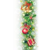 Bakgrund med julen symboler — Stockvektor