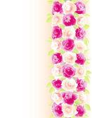 Fond avec des roses — Vecteur