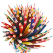 Crayons on white background — Stock Photo