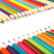 Crayons on white background — Stock Photo #4337317