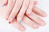 Male and female manicure — Foto Stock