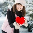 Teen girl heart in his hands — Stock Photo #4787017