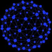 System of blue spheres — Stock Photo