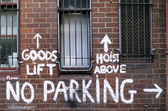 Zákaz parkování — Stock fotografie