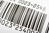 Bar code close up — Stock Photo