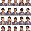 Useful facial expressions. Actor faces. - 图库照片
