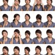 Useful facial expressions. Actor faces. - Stockfoto