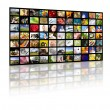 Television production concept. TV movie panels — Stockfoto