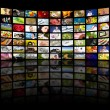 Television production concept. TV movie panels - Stock Photo