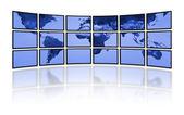 Digitální svět televize. Tv film panely — Stock fotografie