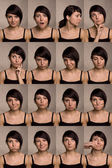Useful facial expressions. Actor faces. — Zdjęcie stockowe