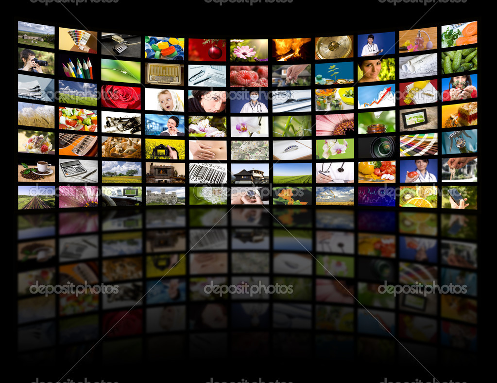 LCD TV panels. Television production technology concept.  — Stock Photo #4601205