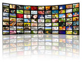 Television production concept. TV movie panels — Stock Photo