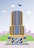 Cartoon skyscraper — Stock Vector