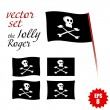 Royalty-Free Stock Vector Image: Vector set of pirate flags