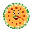 Toy clock — Stockvector #4190848