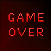 "Title ""game over"" in pixel art style — Stock Vector"